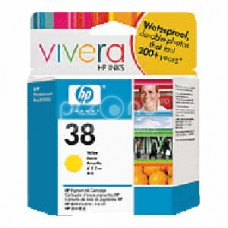 Cartus cerneala HP 38 Yellow Pigment Ink Cartridge with Vivera Ink - C9417A