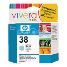 Cartus cerneala HP 38 Light Cyan Pigment Ink Cartridge with Vivera Ink - C9418A