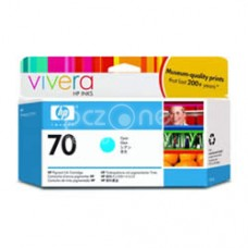 Cartus cerneala HP 70 130 ml Cyan Ink Cartridge with Vivera Ink - C9452A