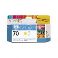 Cartus cerneala HP 70 130 ml Yellow Ink Cartridge with Vivera Ink - C9454A