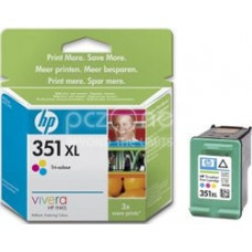 Cartus cerneala HP 351XL Tri-colour Inkjet Print Cartridge with Vivera Inks - CB338EE