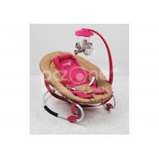 Balansoar U-Grow cu spatar reglabil, Maro / Strawberry Pink